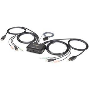 Startech 2 Port DisplayPort KVM Switch - 4K 60Hz - UHD DP 1.2 USB KVM Switch w/