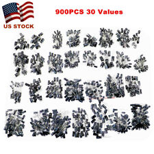 900pcs 30 Value Electrolytic Capacitor Assortment Kit 01uf 1000uf 10v 50v