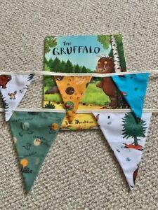 Handmade Gruffalo Bunting, Nursery Playroom Bedroom Decor, Gruffalo Party