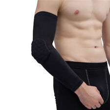 Basketball Arm Sleeve With Elbow Pads Protector Anti-Shock Stretch Padded  O