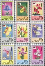 Mongolia 1997 Orchids/Butterflies/Flowers/Plants/Insects/Nature 9v set (b5054)