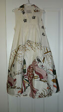 1970's Size 12 'Trent Nathan' Polyester Japanese Patterned Maternity Dress