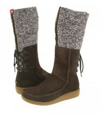 "The North Face ""Alana"" Mid Knit Cuff Boots, Brown Suede Sz 6"