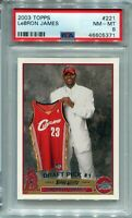 2003-04 Lebron James Topps #221 ROOKIE Card RC NM- MINT PSA 8 !!! (9,9.5,10)