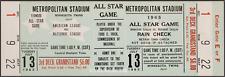 1 1965 ALL-STAR GAME VINTAGE UNUSED FULL TICKET BASEBALL reproduction laminated!