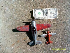 Two Hubley Pre-WW II Vintage Diecast Kiddie Toy Fighter Planes.