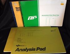"""Accounting Ledger Pads Analysis Paper Lot 160 sheets 17x11"""" Boorum Pease Refill"""