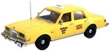 First Response 1/43 Yellow Cab Taxi Dodge Diplomat - Great For O Scale Trains