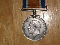 WW1 silver British War Medal Crofts 20 Canadian Infantry Original