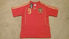 New: Adidas Spain Home Soccer Jersey, Extra Small (XS) Number 9, Fernando Torres