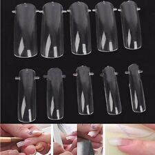 100 PCS DUAL NAIL ART SYSTEM FORM ACRYLIC False TIPS UV GEL Tools Mold Clear New