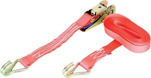 Warrior Ratchet Strap 1 Tonne with Claw Hooks 4m x 25mm - 1000kg Rated - BDV1628