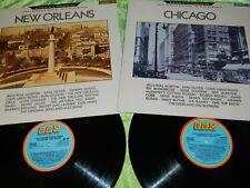 "VARIOUS : Jazz Classics Vol 1 ""New Orleans"" and Vol 2 ""Chicago"" - 2x UK LP's EX"