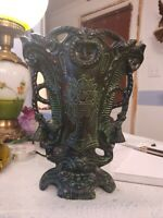 "Metal Vase/Planter/Urn, 10"" Aluminum Vase/Planter W/Tassel Husna Imports"