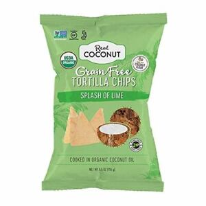 The Real Coconut Gluten Free Coconut Flour Tortilla Chips, Splash of Lime 5.5 Oz