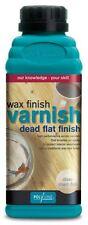 Polyvine Wax Finish Acrylic Woodwork Varnish Dead Flat Finish 500ml Clear