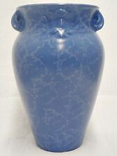 RED WING RUMRILL POTTERY BLUE STIPPLE VASE NUMBER 478