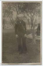 DA742 Carte Postale Photo vintage RPPC Militaire marin marine Peru Lima 1936