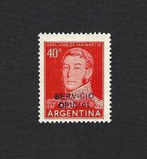 Argentina #630 1954 20c with SERVICIO OFICIAL handstamped overprint MNH