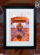 Sideshow SPIDERMAN TROUBLE IN SAN FRANCISCO FRAMED Alex Ross Art Print Marvel