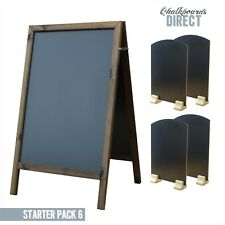 LARGE WOODEN PAVEMENT A BOARD STARTER PACK TABLE TOP LIQUID CHALK (STARTER6)