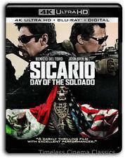 Sicario Day of the Soldado 4K Blu-ray Digital New Benicio Del Toro Josh Brolina