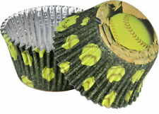 Fastpitch Softball Party Cupcake Liners Foils - Sports Birthday