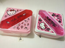 Sanrio Lunch Container BPA Free with Spoon & Fork:Hello Kitty OR Love Rock Kitty