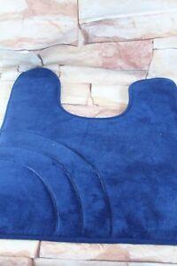 """Sunham Home  Inspire Memory Foam 21"""" x 24"""" Contour Bath Rug Blue  Bathroom"""