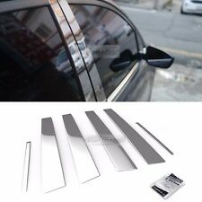 Stainless Steel Chrome Window Pillar Molding 6Pcs For KIA 2010-2014 Sorento R