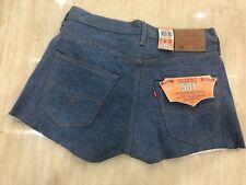 LEVI LEVIS 501 Summer Denim Shorts/ Hot Pants Straight Leg Button Fly Blue New