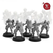 """28mm wargame and collectible miniature, LEU: Riot Control Squad by Artel """"W'"""