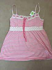 Marks & Spencer pink/white striped camisole strap top, size 12, RRP £15 NEW