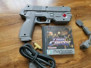 Time Crisis With Official Namco Light Gun For Sony Playstation 1, Ps1