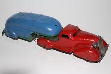 1930's Marx Pressed Steel Windup Gasoline Semi Truck, Original