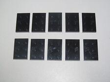 Lego ® Lot x10 Plaques Double Noir 2x3 Plate Black ref 3021 NEW