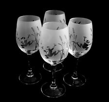 More details for frog gift wine glasses by glass in the forest   set of 4 glasses boxed