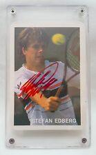 Stefan Edberg '87 Portuguese Tennis Card Autographed MINT Very Rare Collectable