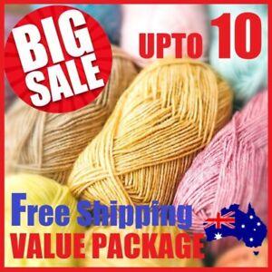 UPTO 10 Knitting Yarn Wool Crochet Acrylic Craft SUPER SOFT Polyester 8Ply DK AU