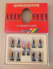 Britains U.S. MARINE CORPS Set (Bandiera Nazionale / Marine Corp standard) 7303