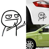Cartoon JDM Car Sticker decal outdoor sticker middle finger T6Z2