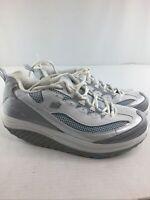 Skechers Shape Ups Womens Sneakers Sz 11 White/Blue Walking Toning 11803