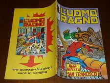 L' UOMO RAGNO N° 141 CORNO Ed CORNO 1975 DA RESA - MAGAZZINO !!