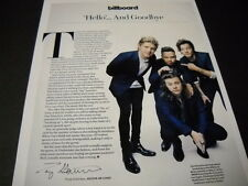 ONE DIRECTION Hello...And Goodbye 2015 music biz PROMO DISPLAY PAGE mint cond