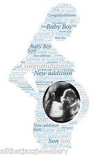 Personalised Word Art Print mum to be pregnant baby scan photo gift keepsake