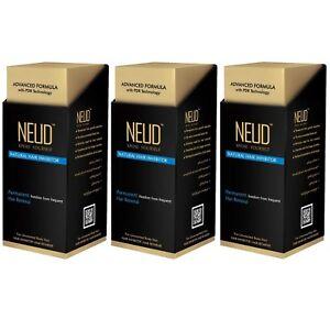 NEUD Natural Hair Inhibitor for Smooth Skin - Unisex - 3 Packs - Free Shipping
