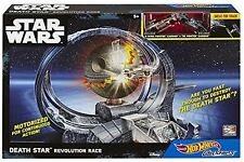 New Hot Wheels Star Wars Carships Death Star Revolution Race Track Set Motorized