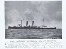 HMS melampus Guardia costiera nave a Kingstown-Antico fotografica stampa 1896