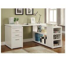 Corner Desks For Home Office L Shaped Storage Drawers White Shelves Computer