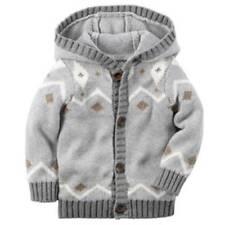 106477b387c3 Gray Cardigan Sweaters (Newborn - 5T) for Boys